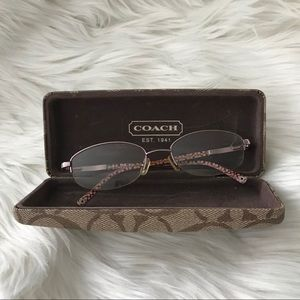 COACH FAYE 118 LIGHT ROSE EYEGLASSES